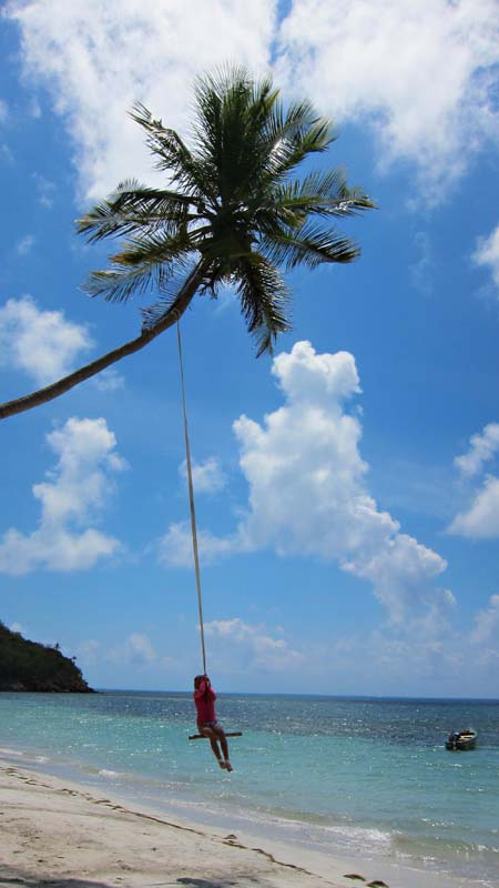 Providencia Coconut Tree Swing